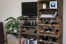 Apple Crates and Apple Crate Products in Use! / A range of photos displaying our crates as used by both ourselves and our customers throughout a range of environments from weddings to office units and farm shops!