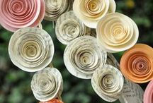 Crafts to do with Book Pages / Recycle creatively using old books! Pair paper/pages with colored paper, tissue paper, sticks, fabric and more to make your project truly unique.