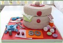 Tarta - Costurero / Tarta costurero de carrot cake.