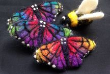 Felted ideas and inspiration / Wet and needle felted projects