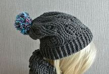 crochet, knitting hat and scarf