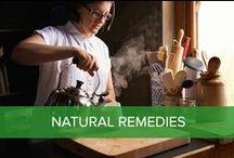 Natural Remedies / Green tea, turmeric and essential oils for natural health.