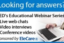 "APFED's Educational Webinar Series / APFED's Educational Webinar Series, sponsored by EleCare®, is pleased to present ""Answers from Experts"", featuring short interviews with experts regarding topics of importance to the eosinophilic community. APFED, in conjunction with the Center for Managing Chronic Disease at the University of Michigan, is developing this series to provide accessible education about eosinophil associated diseases.  http://apfed.org/drupal/drupal/webinar_series"