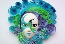 quilling /magnets/ key chain/ box / eggs / by Lili Gutu