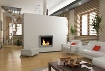 Wall mounted Fireplaces / These wall mounted fireplace have a sleek contemporary design that will make a statement in any room.