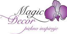 MAGIC DECOR www.magicdecorshop.pl /  Kwiaty cukrowe, dekoracja cukrowa na tort. Sugar flower in gum paste.