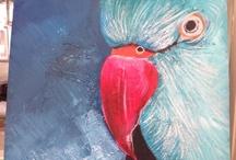 Painting...Year 7 (kuala Lumpa birds)