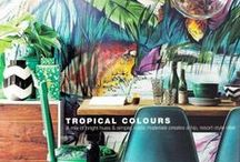 TROPICAL / TROPICAL MOOD BOARD FOR INSPIRATION - take from it what you want :)  Hope this can inspire an overall look and feel for artwork design  and an overall decor feel - we should bring in an AFRICAN feel here