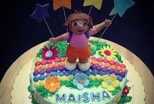 Dora Cake / Let's explore and discover the world with Dora