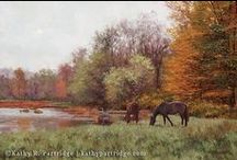 My Available Paintings: Horses / One of my long-time favorite subjects is horses - horses at pasture, Thoroughbred racehorses, and some foxhunting. See more at http://www.kathypartridge.com/mostly-horses/ Enjoy!