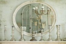 Decorating With Mirrors / I can't live without at least one gorgeous mirror in each room.