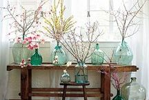 Decorating WIth Jars & Bottles / Vintage bottles and jars are often the finishing touch.