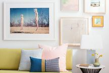Wall Art Inspiration / Modern art, photography even postcards displayed on your walls keep you inspired or just makes you happy.