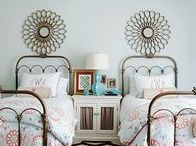 Rooms I Love - Guest Rooms / Do you have company coming?  Give them a room with style and grace.  And don't forget storage!
