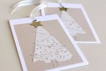 DIY Christmas Tags / Why buy store bought tags when you can easily make your own? Much more fun for creatives.