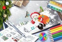 Christmas Colouring / Colour me Christmas Cards, pages, Calendars, tags and more....