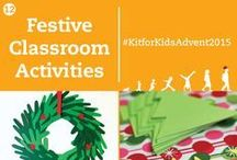 Christmas Classroom Activities / We couldn't wait for the start of December and all the Christmas planning to start, at home and in the  classroom. You can encourage your class to get involved and start celebrating the festive season with lots of exciting activities that cover a range of different subject areas from arts and crafts through to literacy and numeracy.
