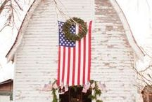 Americana Decor / Celebrating all things with a Patriotic flair and from days gone by. It's the Home of the Brave and Land of the Free....it's Americana!