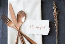 Happy Thanksgiving / Let's be grateful for the food, family, friends and wonderful fall decor.
