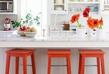 Outrageous Orange Decor / Need to rev up your room?  Nothing will do it better than shades of orange!