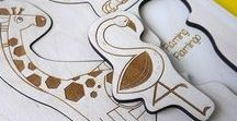 Puzzle and Games / lasercut handmade puzzle game woood eco illustration kids education fun