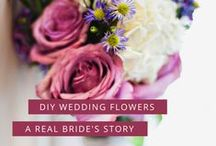 Real DIY Brides / Real brides who had DIY wedding flowers for their big day, learn from their experience! These brides had beautiful budget weddings and abundant flowers without breaking the bank because they decided to do their own :)