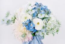 Colors - Blue Flowers / Beautiful blue wedding flower inspiration for brides