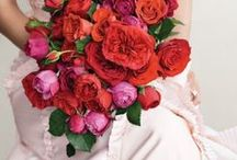Colors - Red Flowers / Beautiful red wedding flower inspiration for brides