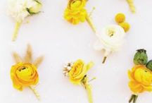 Colors - Yellow Flowers / Beautiful yellow wedding flower inspiration for brides