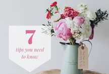 DIY Wedding Flower Tips & Tricks / Tips and advice for DIY wedding flowers, saving money on your floral decor, and arranging your bulk wholesale flowers. Are you a budget bride looking to try you hand at floral design? Look no further!  All the inspiration you need is here :)