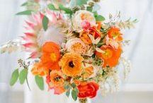 Colors - Orange Flowers / Beautiful orange wedding flower inspiration for brides