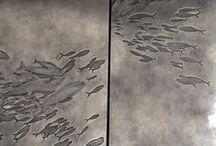 murales / instalaciones en ceramica / Cerámica o que podría serlo, en murales o instalaciones.