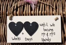 Engagement Gifts / It's an exciting time when a loved one or friend proposes… and even more exciting when he or she says 'YES!' Help the happy couple celebrate throughout their engagement with one of our unique, handmade wooden engagement plaques. Popular among shoppers are the Golden Heart Countdown wooden plaques. Get your Personalised Engagement gift today from Little Miss Scrabbled.