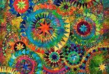 "Jacqueline de Jonge Patterns and Kits / A Jacqueline de Jonge  quilt is a work of art! Her sense of pattern and color are distinctive. We admire her ""colorfulness""!"