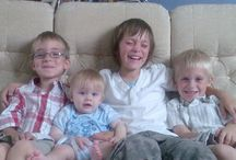 My Lads / God has blessed me with my amazing family. Here they ALL are!!