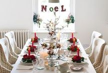 Christmas Table Decorations / Gorgeous ideas for festive tablesettings and Christmas tablescapes to give your dining sparkle this season