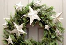 Christmas Wreaths & Garlands / Festive garlands and winter wreath ideas to festoon your fireplaces, doorways, picture frames, windowsills, mantelpieces and banisters this Christmas