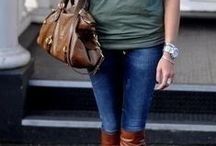 Style / A combination of country chic and simple business casual with warm fall colors and a bit of exotic touch - me like :)