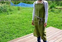 グリーン系のリネン(麻)エプロンを集めました / グリーン系のエプロン。個性的でかわいい。 ちょっと珍しいですか?*^^* エプロン リネン グリーン系 linen apron green