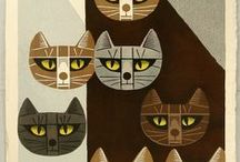 Inagaki Tomoo prints and other cats / Inagaki Tomoo, Netsuke and other Oreintal cat art