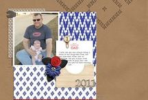 Scrapbooking: Father's Day & Masculine / Paper and digital scrapbook layouts with Father's Day and masculine/boy themes. digital scrapbook, scrapbook layout, scrapbook page, scrapbooking, boy scrapbook theme, masculine scrapbook layout, Father's Day scrapbook layouts