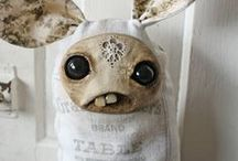Stuffed stuff / Stuffed dolls and creatures. Hand made plushies. / by Tui Curry