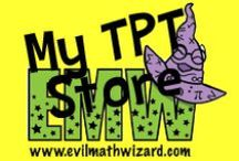 My TPT Store / Some of my math activities and common core resources available at www.teacherspayteachers/evilmathwizard.com