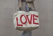 Canvas bags  / I love canvas bags! There not too expensive, better for the environment, fun and practical. You can easily make a statement, be on trend or stand out in the croud.