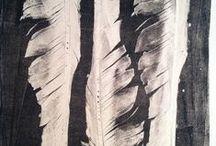 Gelatine printing - monotypes