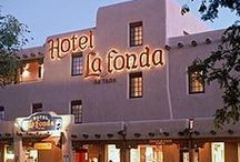 Hotel La Fonda de Taos / Pins showcasing our historic inn and rooms that are right on the Taos Plaza!