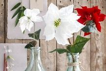 Silk and flowers / Mica Decorations - Silk and flowers