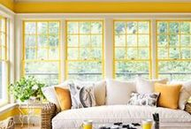 Yellow Themed Rooms / Be inspired by the warmness that is yellow.  / by Lutron Electronics