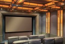 Media Room Lighting & Décor / Bring the movies home with you by creating a theater-like experience.  / by Lutron Electronics