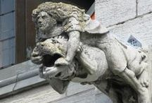 Gargoyles, Dragons and Statues